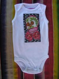 Hand made Sugar Skull tank style onesie! So cute and a great unisex baby shower gift! Amber - check it out!