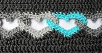 CROCHET PATTERN - Sweetheart Scarf - a linked heart scarf - infinity scarf/cowl - Instant PDF Download