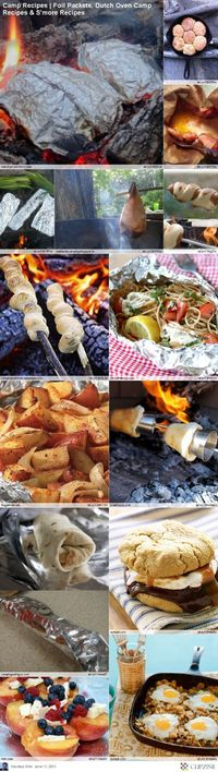 EASY Camping Recipes-- chase already makes awesome camping food
