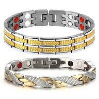 Gullei.com Custom Engraved Matching Friendship Magnetic Bracelets for 2