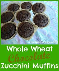 These Whole Wheat Chocolate Zucchini Muffins are a must try! They turn out a super moist, low sugar treat!