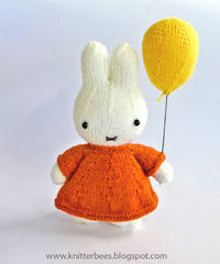 Miffy and her balloon plush toy pattern