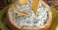 """Spinach Dip - less fat, more protein 1- 10 oz container of frozen chopped spinach �€"""" defrost and squeeze out all the juice 1- 2.5 oz cans of sliced water chestnuts �€"""" dice into small pieces 1- 8 oz container of 1% cottage chees..."""