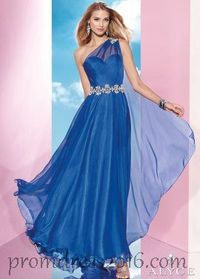 B'Dazzle One Shoulder and Sexy Sapphire/Blue Prom Dresses