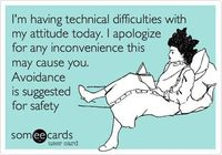 technical issues with my attitude