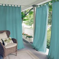 Elrene Semi-Opaque Matine Mineral Indoor/Outdoor Window Curtain Panel - 52 in. W x 95 in. L