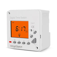 220V AC LCD Display 7 Days Weekly Digital Electronic Timer Lighting Switch with Backlight and Cover