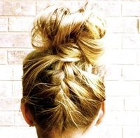 updo braid, I kinda wish my hair was long enough to do this with.