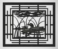 Loons in Lake Scene Railing Insert Just for: $39.50
