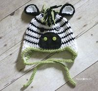 Repeat Crafter Me: Crochet Zebra Hat Pattern