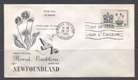 Canada #427 (SG#552) 5c Newfoundland 1964-1966 Provincial Emblems Issue Rose Craft First Day Cover XF-91 $1.99