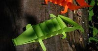 A4 Paper Alligator! Easy cutting instruction included. #kidscrafts #preschool (repostned by Super Simple Songs)