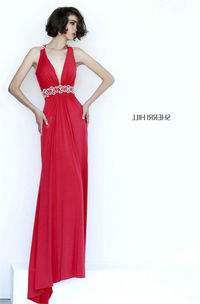 Sherri Hill 8550 Sexy Red Vintage-Inspired Jeweled Prom Dress
