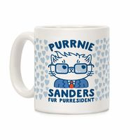 Who do you know who would love this? Purrnie Sanders Fur Purresident Ceramic Coffee Mug Handcrafted in the USA! $15.99