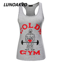 Tank Top Women Golds Vest Fitness Singlets Bodybuilding Clothing Tank Tops $14.32
