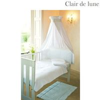 Clair de Lune Soft Waffle - 5 Piece Bedding Bale Product Information Quilt Size: 100cm x 125cm Bumper Size: 36cm x 150cm Fleece Blanket Size: 100cm x 150cm Cotton Flannelette Flat Sheet: 130cm x 180cm Cotton Jersey Fitted Sheet: 70cm x 140cm Availab http:...