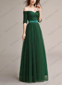 PD16013 Grey blue red color sweetheart neck tulle long prom dress