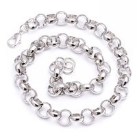 Silver Plated Solid Belcher Chain Necklace £29.95