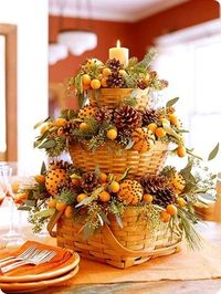 Fall Centerpiece with Oranges and Cloves