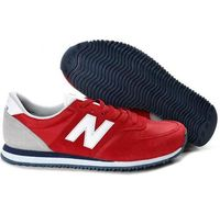 New Balance 420 Running Shoes Red White Grey Unisex  Complete your footwear palette with the New Balance 420. Lightweight materials, bold colors and a solid rubber outsole give these retro classics an upbeat feel that will accent any outfit. Unisex Her...