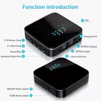 CSR8675 bluetooth 5.0 Wireless Audio Receiver Transmitter Adapter 2-In-1 3.5mm AUX Interface USB