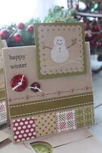 how great is this card. change out the red and green and you have a great 'happy winter' card (is winter happy? hmmmm . . . not sure)