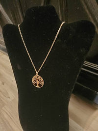 Large Gold Tree of Life Pendant Necklace $15.50