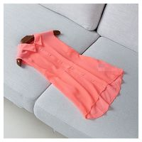 Sleeveless One Color Summer Top Blouse Chiffon Top - Discount Fashion in beenono