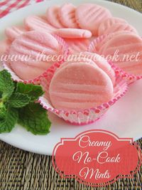 The Country Cook: Creamy No-Cook Mints. Change the color for any season/holiday! I need a stand mixer...