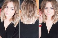 hair colour - root colour faded to blonde at the ends - multi-tonal, soft and blended
