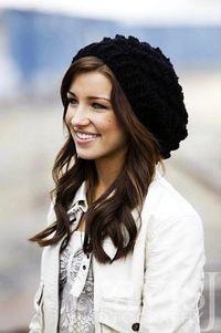 Crocheted Slouchy Hat / beanie in Black - Women - Teen - BACK to SCHOOL SALE - 25% off regular price