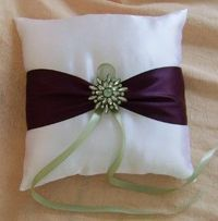 Eggplant and Sage Green Wedding Colors, Ring...