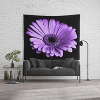 Purple Chrysanthemum Flower Wall Tapestry.