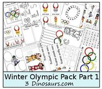 Free Winter Olympics Printable Pack