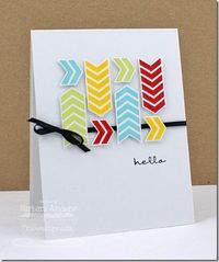 Chevron Hello - black ribbon gets me every time!