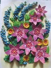Quilling flowers and texture papercraft juxtapost - Paper quilling art wallpapers ...