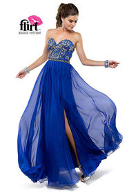 Beaded Split Flirt P5828 Long Prom Dresses 2014