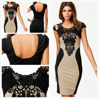 Details about Fashion Lace Sleeve Sexy Formal Party Cocktail Evening Slim Bodycon Mini Dress