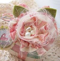 Well maybe. This is so feminine and frilly and great for Valentine's Day or a Bride.