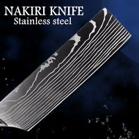 Chef Knife Professional Kitchen Knives Stainless Steel Japanese Nakiri Blade Cooking Tools Vegetables Gadgets $39.80