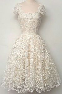 Openwork Lace Hook Ball Gown Dress WHITE: Lace Dresses   ZAFUL