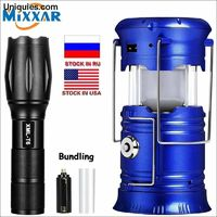 LED Solar Powerful Flashlights Portable Torch Rechargeable Hand Lamp Hiking Camping Lantern Tent Emergency Light dropshipping $25.95