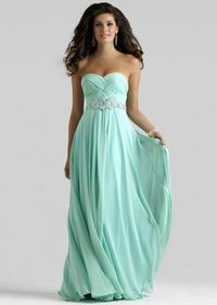 Clarisse 2108 Mint Long Ruched Prom Dresses 2014