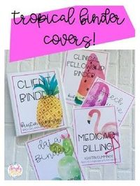 These Tropical Binder Covers will add some color to your classroom, speech room, and organization style! These colorful covers are editable so you can customize them to your