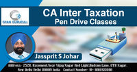 Gyan Gurucull is the India's No. 1 CA Coaching Classes and provides High Quality CA Inter Taxation Pen drive classes with Animated Conceptual Videos for CA aspirant students who want to make his career in Chartered Accountant field. Know more Call +...