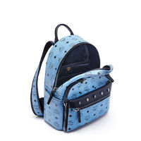 MCM Small Dual Odeon Stark Backpack In Washed Blue
