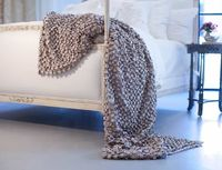 Silver Ribbon Throw by Lili Alessandra $438.00