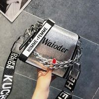 Barrel Shaped PU Leather Design Crossbody Shoulder Bag With Thick Chain $37.71