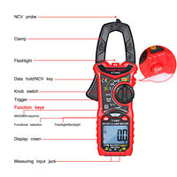 HT206A HT206B HT206D AC/DC Digital Clamp Meter for Measuring AC/DC Voltage , AC/DC Current, NCV Clamp Multimeter