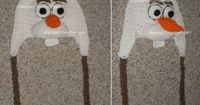 CUSTOM Boutique Crocheted DISNEY BRAIDED FROZEN OLAF HAT beanie snowman please give me this lol